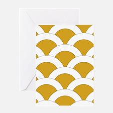 Scallops 3x5 W Gold Greeting Card