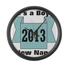 2013 Nana of Boy Large Wall Clock