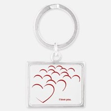 I love you Landscape Keychain