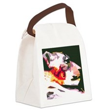 Simple Cat Canvas Lunch Bag