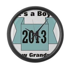 2013 New Grandma of Boy Large Wall Clock