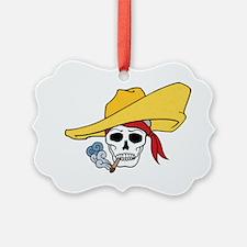 Smoking Skull Ornament
