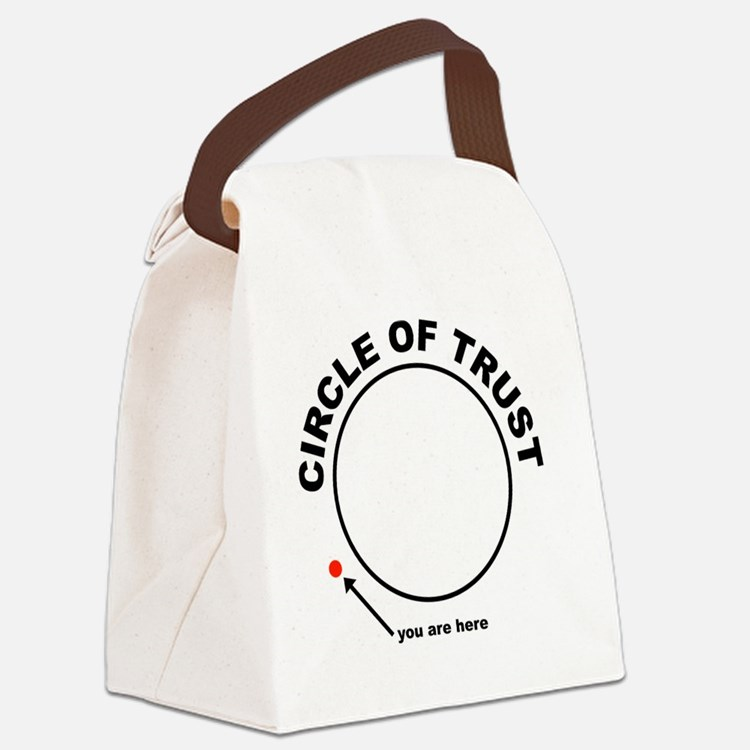 circle of trust Canvas Lunch Bag