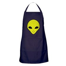 Alien Smiley Face Apron (dark)