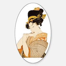 Vintage Japanese Geisha Woman with  Decal