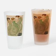 Vintage French Ephemeres Mermaid Sh Drinking Glass