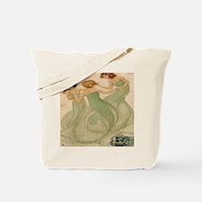 Vintage French Ephemeres Mermaid Shower C Tote Bag