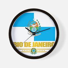 Rio De Janeiro Flag (state) Wall Clock