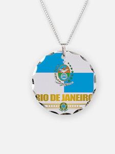Rio De Janeiro Flag (state) Necklace
