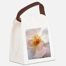 White flower Canvas Lunch Bag