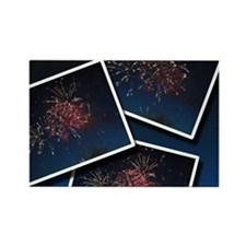 Fireworks Calendar Cover Rectangle Magnet