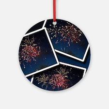 Fireworks Calendar Cover Round Ornament