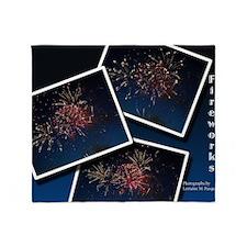 Fireworks Calendar Cover Throw Blanket