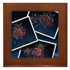 Fireworks Calendar Cover Framed Tile