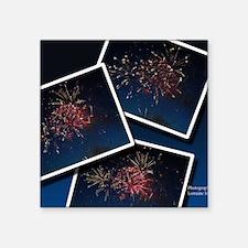 """Fireworks Calendar Cover Square Sticker 3"""" x 3"""""""