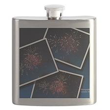 Fireworks Calendar Cover Flask