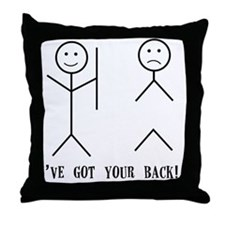 Ive Got Your back Throw Pillow