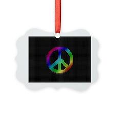 Rainbow Peace Ornament