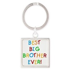 Best Big Brother Ever Square Keychain