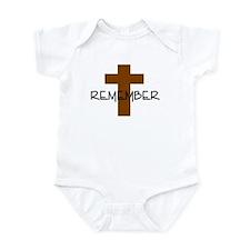 REMEMBER JESUS CROSS Infant Bodysuit
