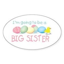 big sister easter Oval Decal