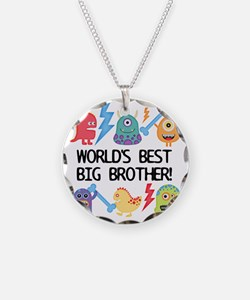 Monsters World's Best Big Br Necklace