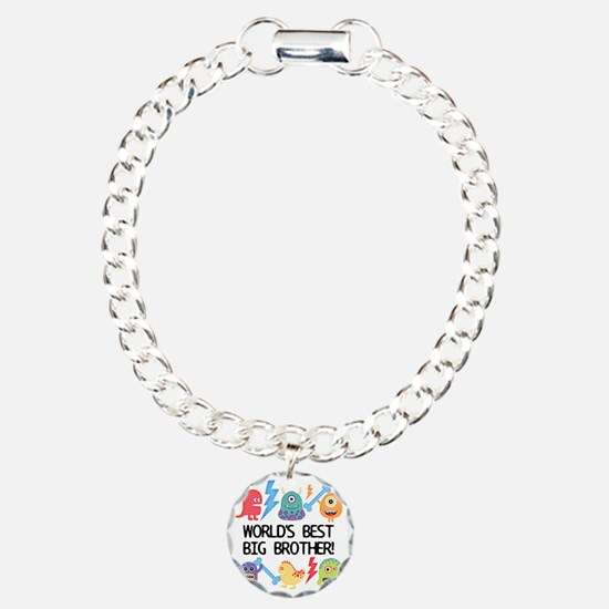 Monsters World's Best Bi Charm Bracelet, One Charm