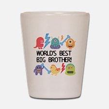 Monsters World's Best Big Brother Shot Glass