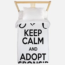 keep calm and adopt responsibly (edge t Twin Duvet