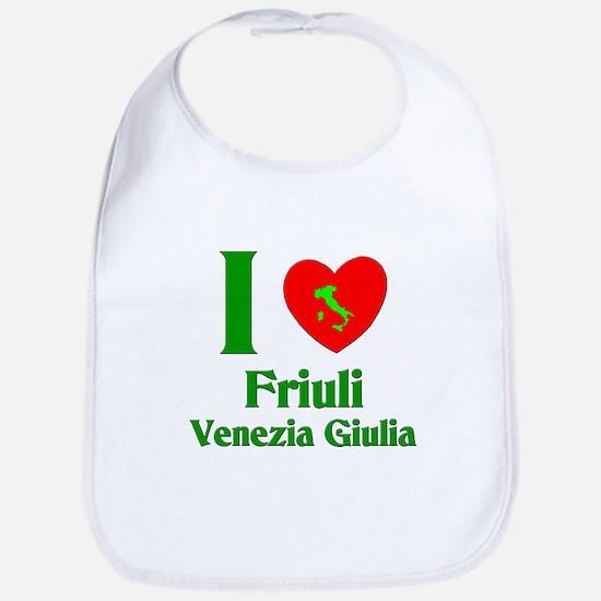 I Love Friulilla Venezia Glul Bib