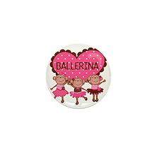 Ballerina Monkeys Mini Button