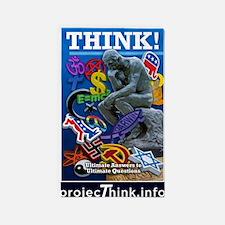projecThink dark blue border 3'x5' Area Rug