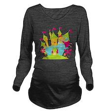 Blond Frog Princess Long Sleeve Maternity T-Shirt