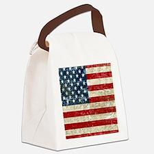 USA Patriotic Canvas Lunch Bag