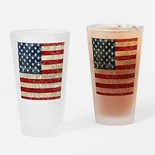 USA Patriotic Drinking Glass