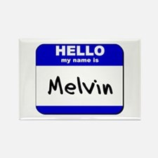 hello my name is melvin Rectangle Magnet