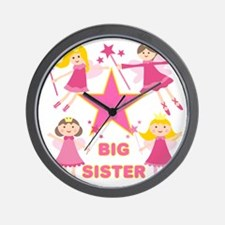 Fairy Princesses Big Sister Wall Clock