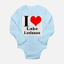 I heart Lake Leelanau Body Suit