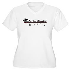 Sirius Denial White V-Neck T-Shirt