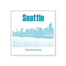 "Seattle_10x10_SeattleWatefr Square Sticker 3"" x 3"""