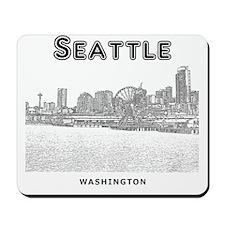 Seattle_10x10_SeattleWaterfront_v1_Black Mousepad