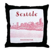 Seattle_10x10_SeattleWatefront_v2 Throw Pillow