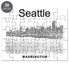 Seattle_12X12_SeattleWaterfront_Black Puzzle