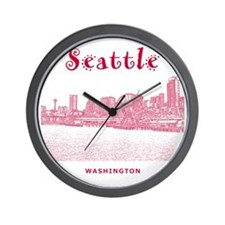Seattle_10x10_SeattleWatefront_v2 Wall Clock