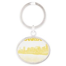 Seattle_10x10_SeattleWatefront_v4 Oval Keychain