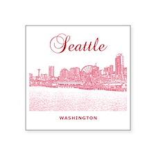 "Seattle_10x10_SeattleWatefr Square Sticker 3"" x 3"""