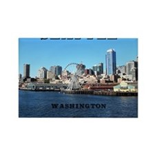 Seattle_11x9_SeattleWaterfront Rectangle Magnet