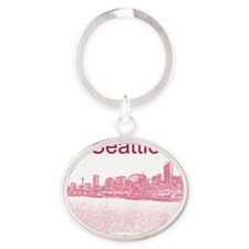 Seattle_12X12_SeattleWaterfront_Red Oval Keychain