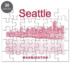 Seattle_12X12_SeattleWaterfront_Red Puzzle