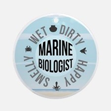Marine Biologist Round Ornament